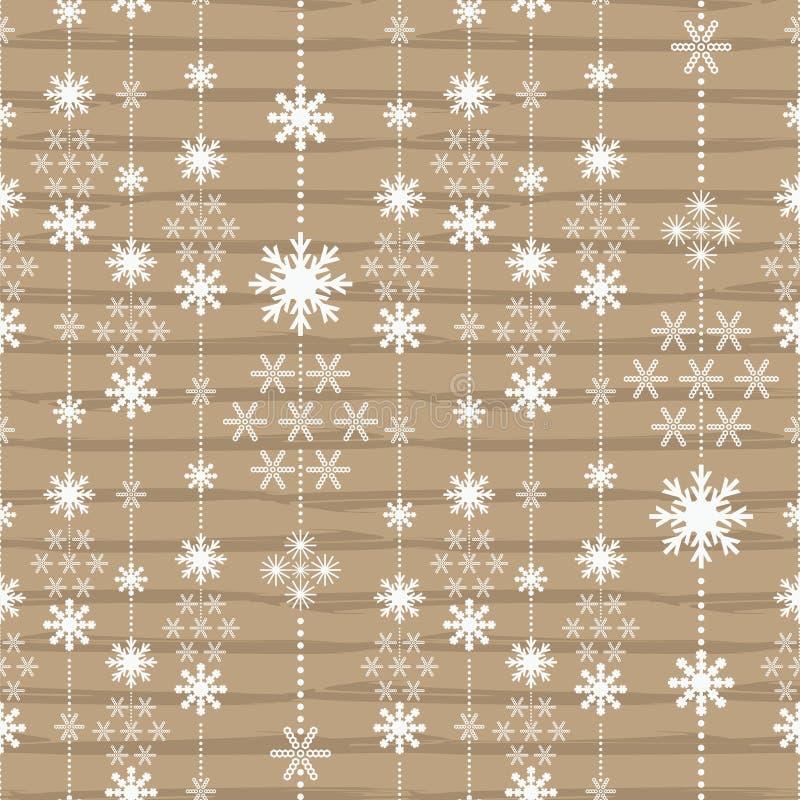 Teste padrão do Natal com as listras de cristal sem emenda ilustração royalty free
