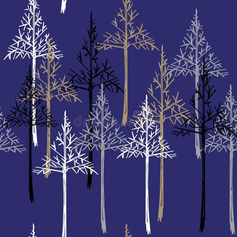 Teste padrão do Natal Fundo sem emenda simples do ano novo feliz ilustração stock