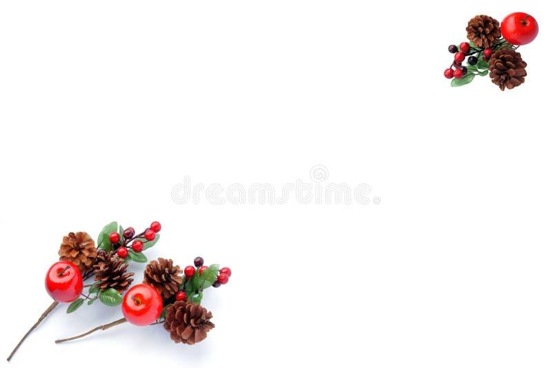 Teste padrão do Natal para o cartão de cumprimentos fotografia de stock