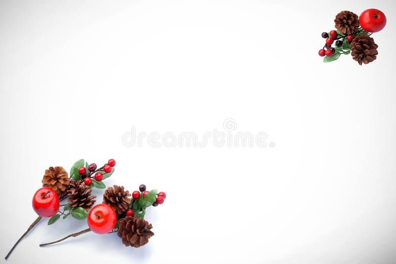 Teste padrão do Natal para o cartão de cumprimentos foto de stock