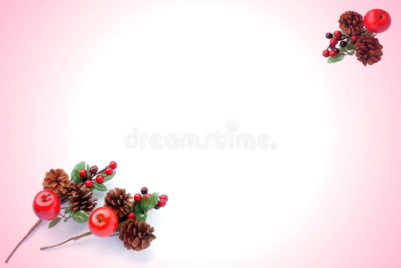 Teste padrão do Natal para o cartão de cumprimentos imagem de stock
