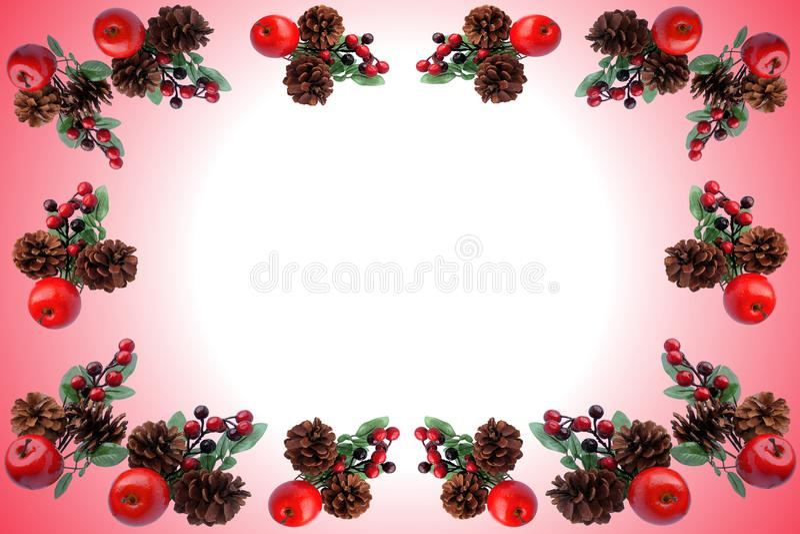 Teste padrão do Natal para o cartão de cumprimentos fotos de stock