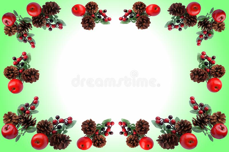Teste padrão do Natal para o cartão de cumprimentos fotografia de stock royalty free