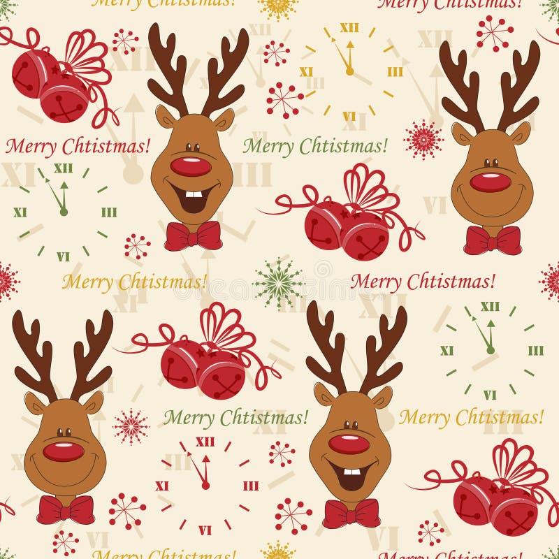 Teste padrão do Natal sem emenda ilustração royalty free