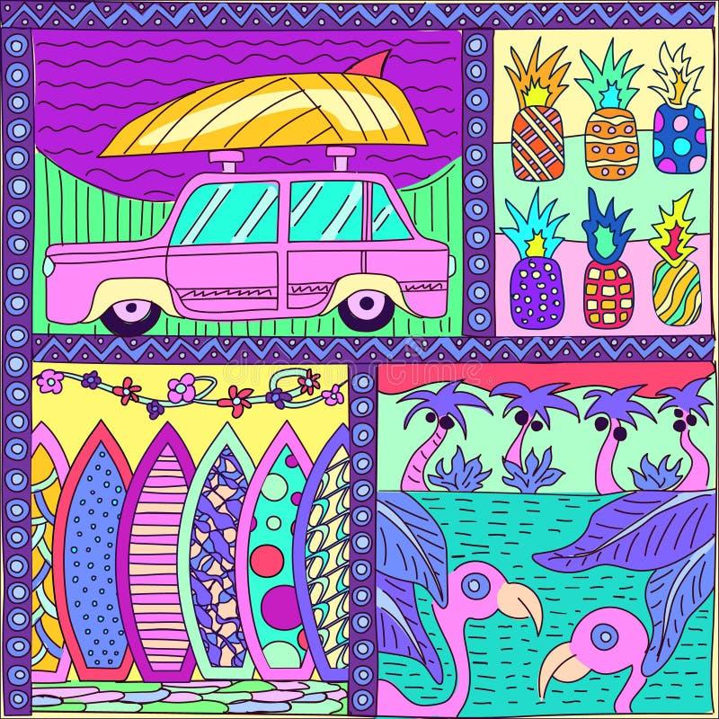 Teste padrão do ornamental das férias ilustração stock