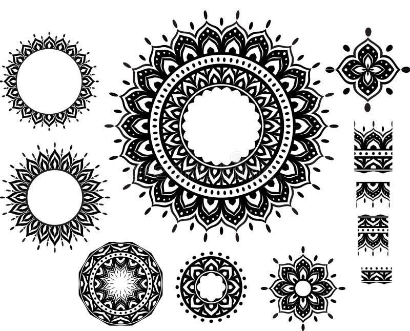 Teste padrão do ornamento com garrido do teste padrão ilustração royalty free