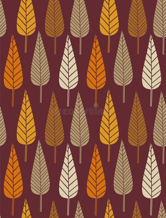 Teste padrão do outono ilustração do vetor