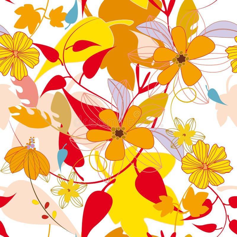 Teste padrão do outono da folha ilustração do vetor