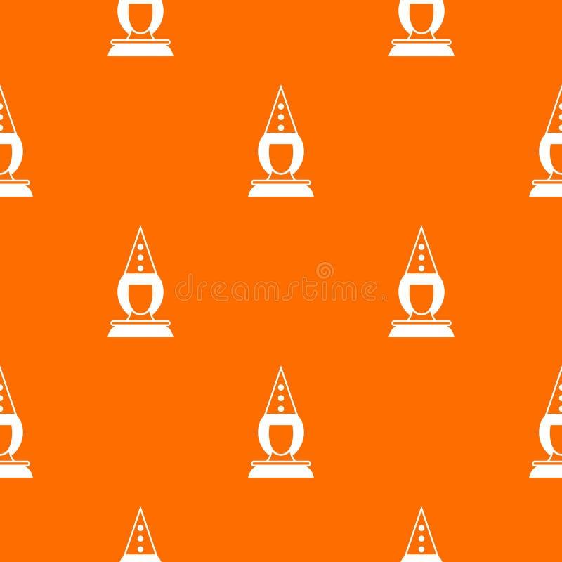 Teste padrão do palhaço do pierrô sem emenda ilustração stock
