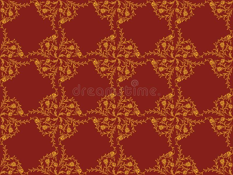 Teste padrão do papel de parede do Victorian ilustração royalty free