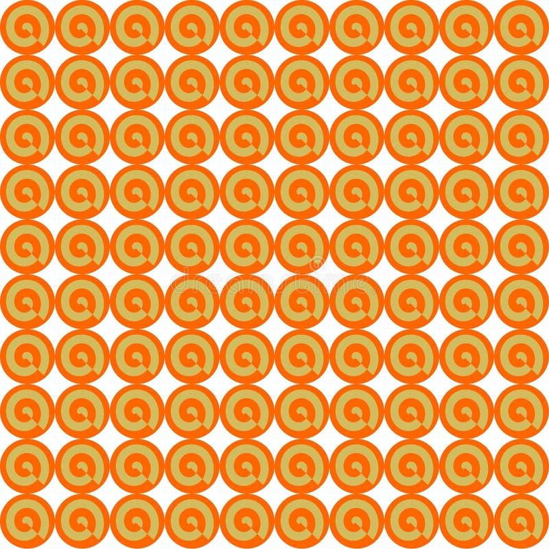 Teste padrão do papel de parede feito dos círculos ilustração do vetor