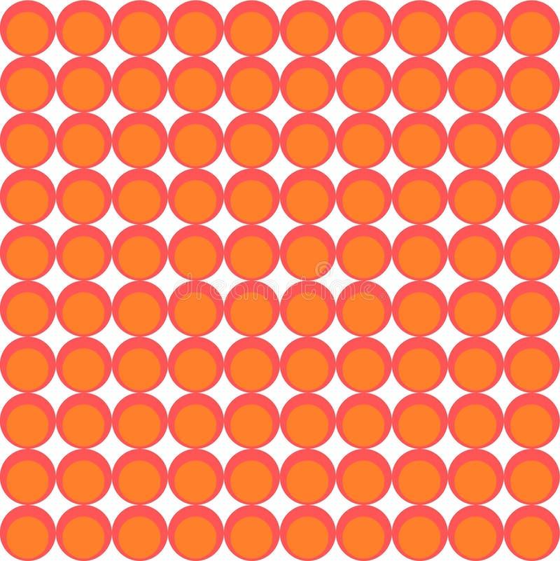 Teste padrão do papel de parede feito dos círculos ilustração royalty free
