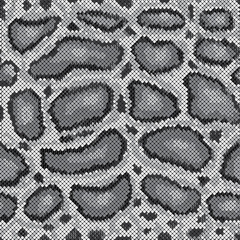 Teste padrão do pitão no cinza ilustração royalty free