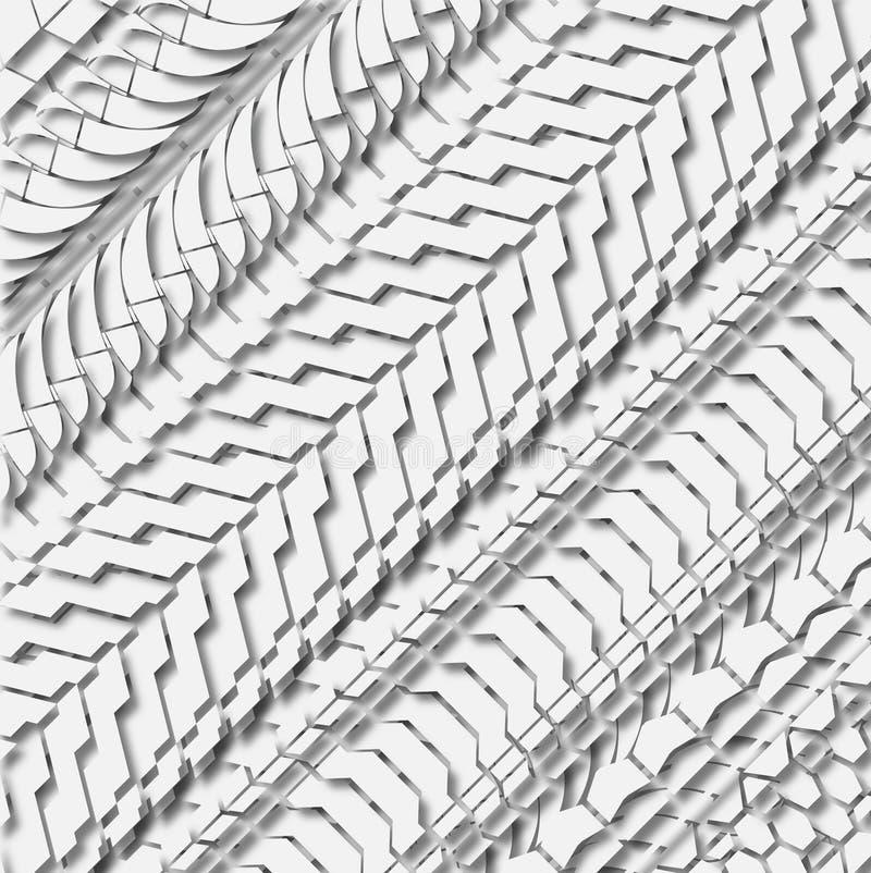 Teste padrão do pneu ilustração do vetor
