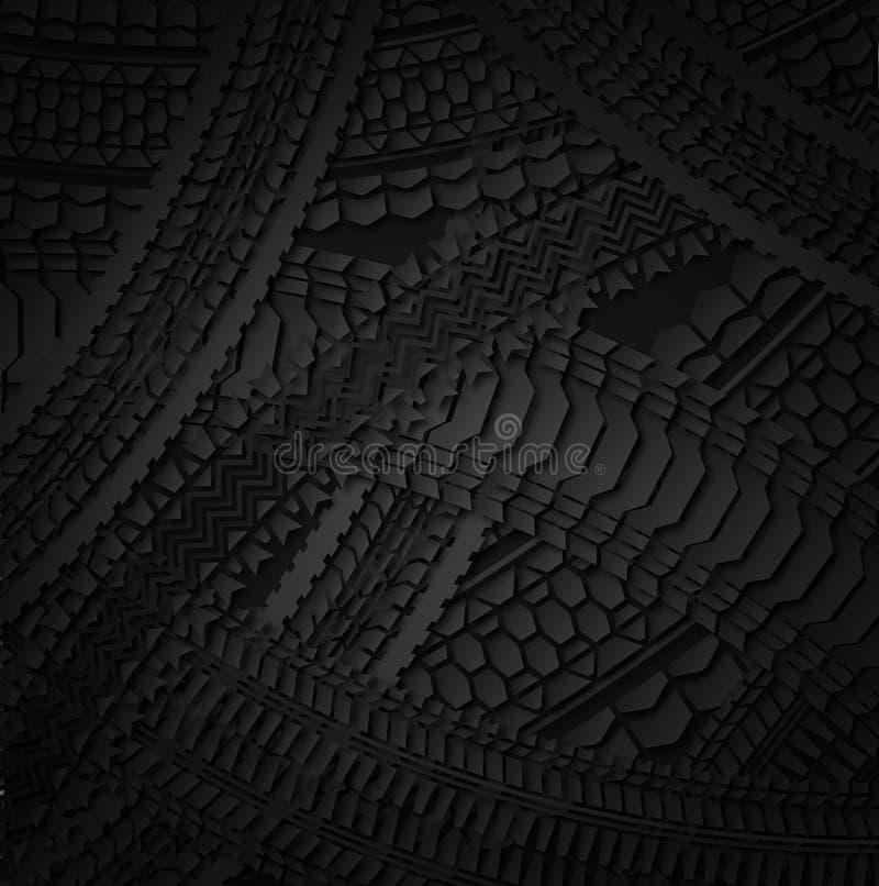 Teste padrão do pneu ilustração stock