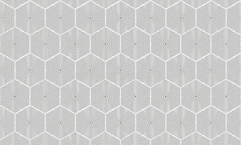 Teste padrão do polígono e do triângulo ilustração stock