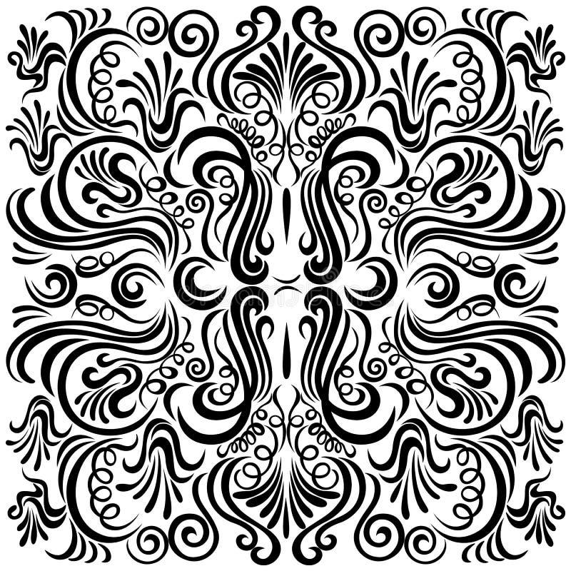 Teste padrão do projeto com o Orn decorativo floral de roda ilustração royalty free