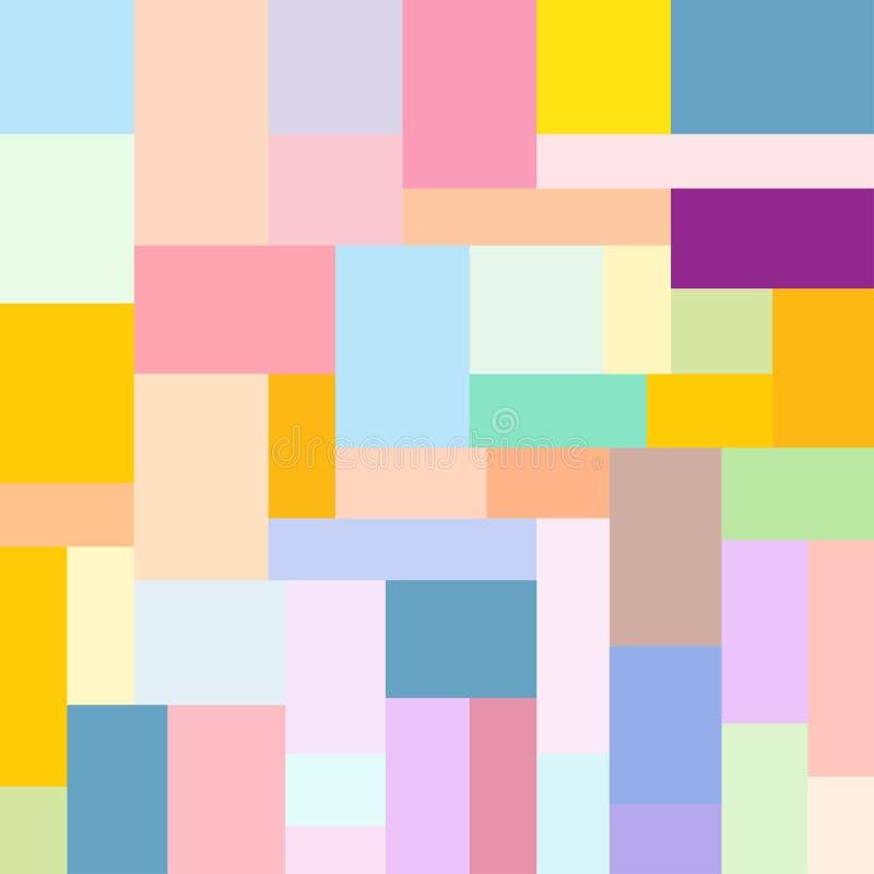 Teste padrão do projeto de bloco da cor ilustração royalty free