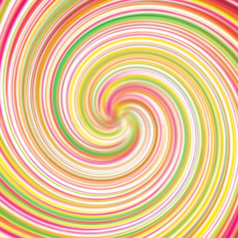 Teste padrão do redemoinho dos doces do Lollipop ilustração royalty free
