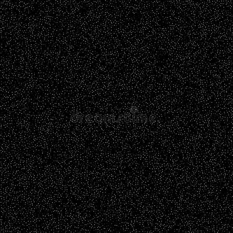 Teste padrão do ruído, efeito digital Céu com estrelas, projeto liso simples Muitos pontos do branco no fundo preto, vetor ilustração stock