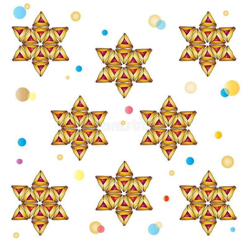 Teste padrão do símbolo do feriado de Purim ilustração stock