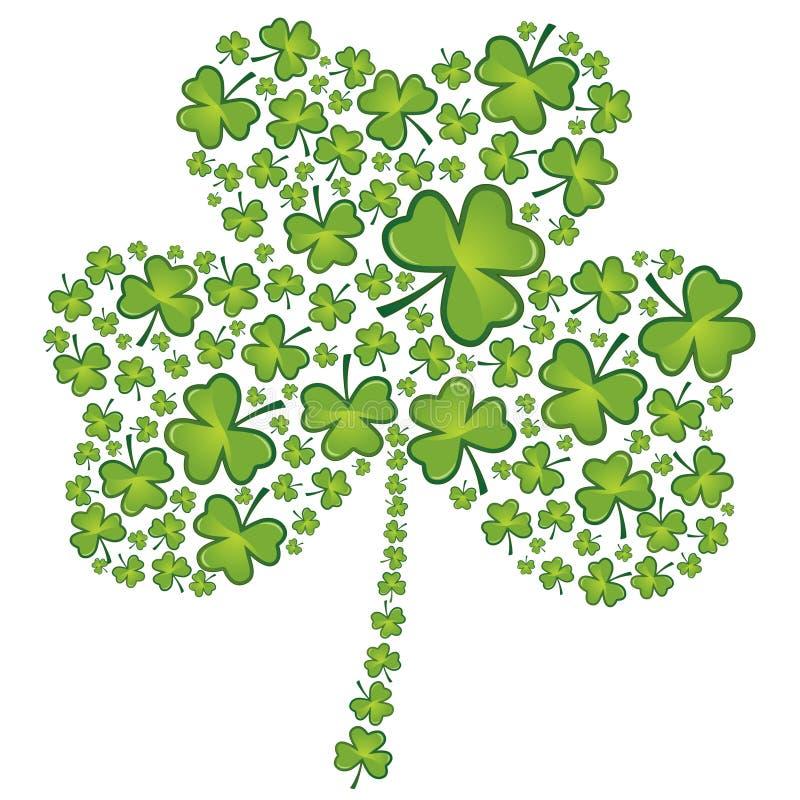 Teste padrão do shamrock do dia do St Patrick ilustração do vetor