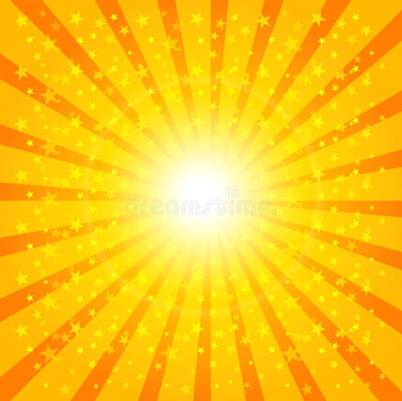 Teste Padrão Do Sunburst De Sun Ilustração Do Vetor Ilustração do Vetor