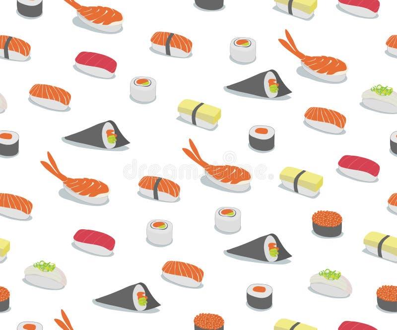Teste padrão do sushi ilustração royalty free