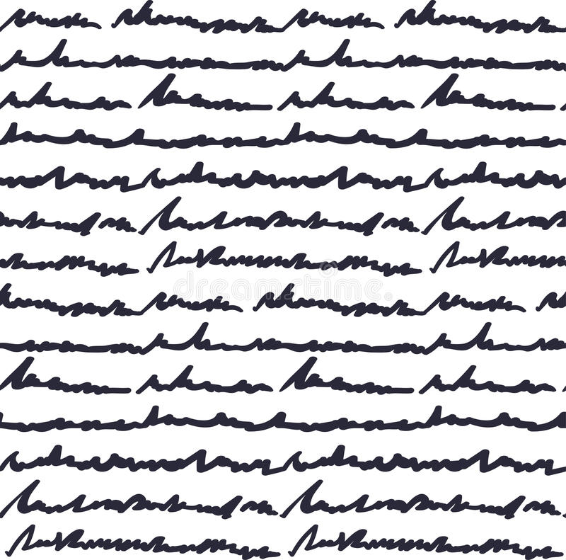 Teste padrão do texto escrito da mão ilustração do vetor