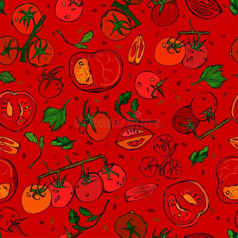 Teste padrão 01 A do tomate ilustração stock
