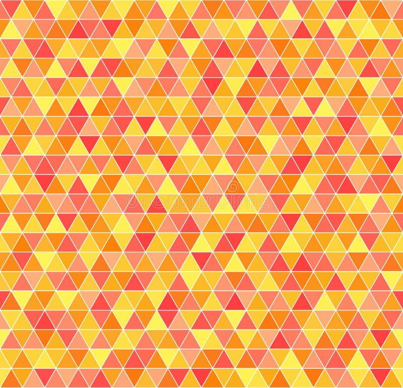 Teste padrão do triângulo Fundo geométrico do vetor sem emenda ilustração do vetor