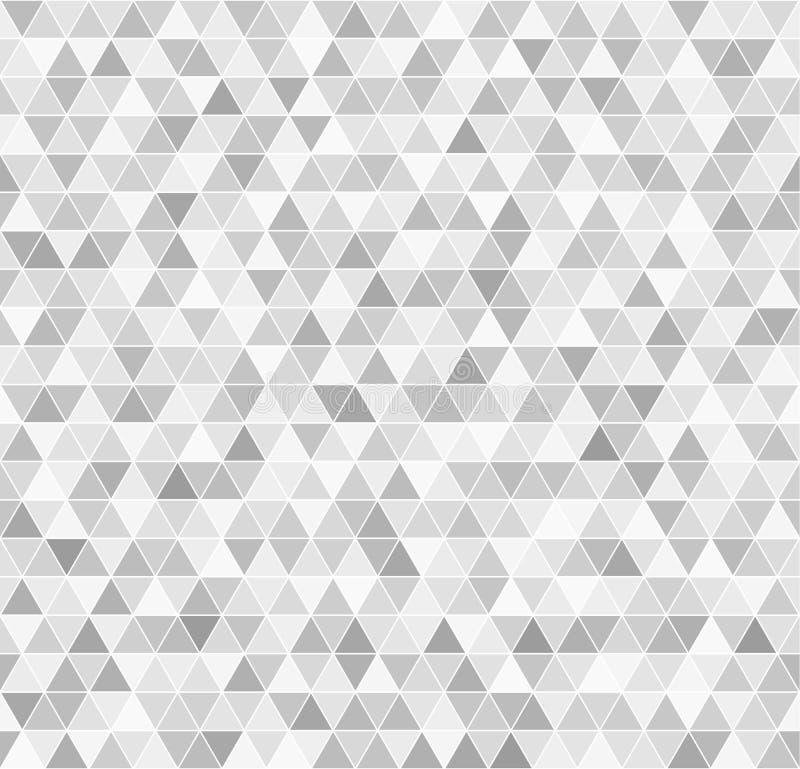 Teste padrão do triângulo Fundo sem emenda do vetor ilustração stock