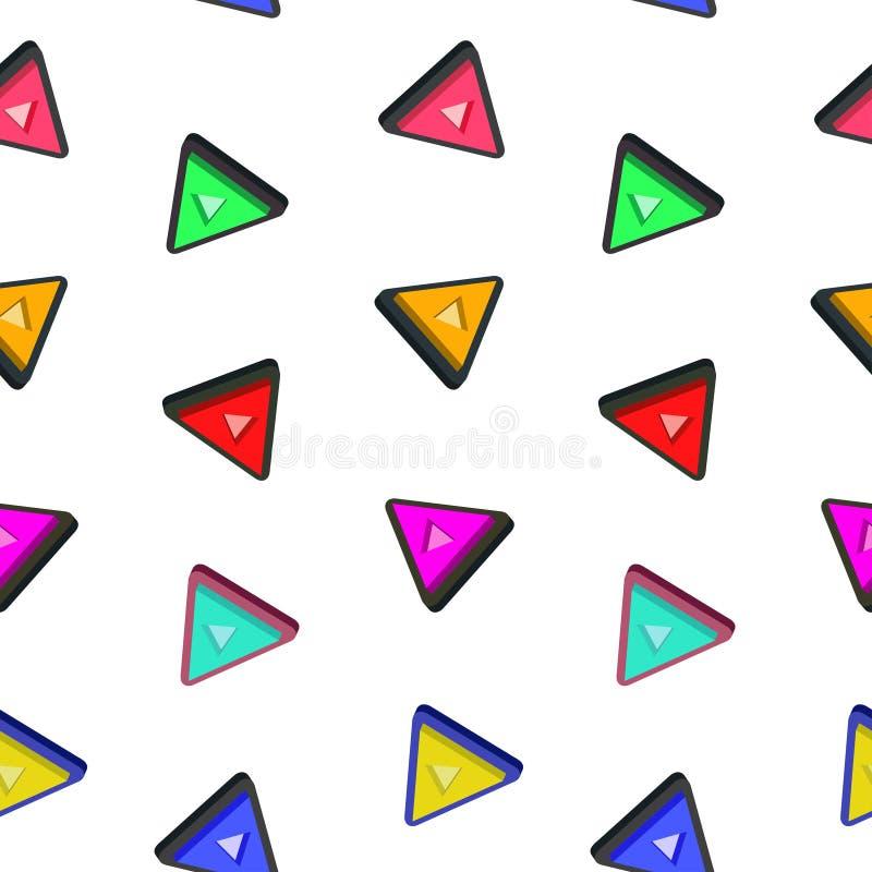 Teste padrão do triângulo sem emenda com fundo branco imagens de stock royalty free