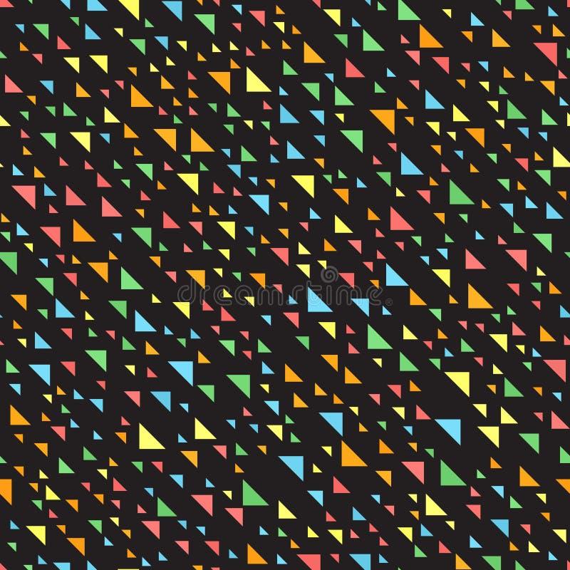 Teste padrão do triângulo Vetor sem emenda ilustração do vetor