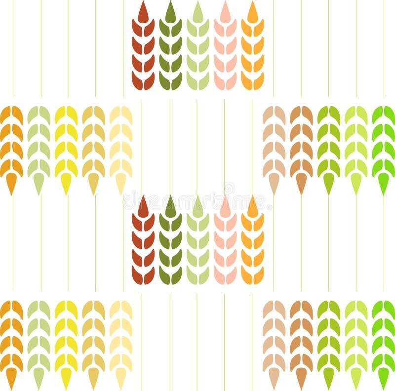 Teste padrão do trigo. ilustração stock