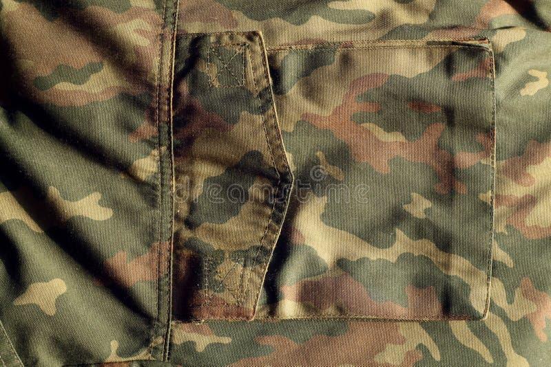 Teste padrão do uniforme militar com o bolso com efeito do borrão ilustração royalty free