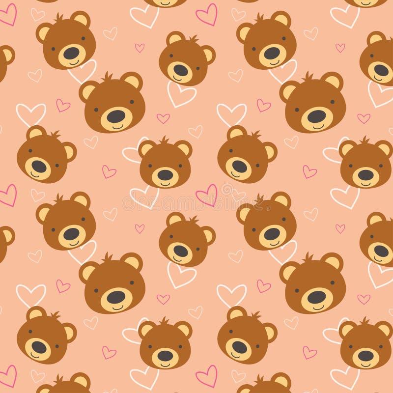 Teste padrão do urso de peluche fotografia de stock