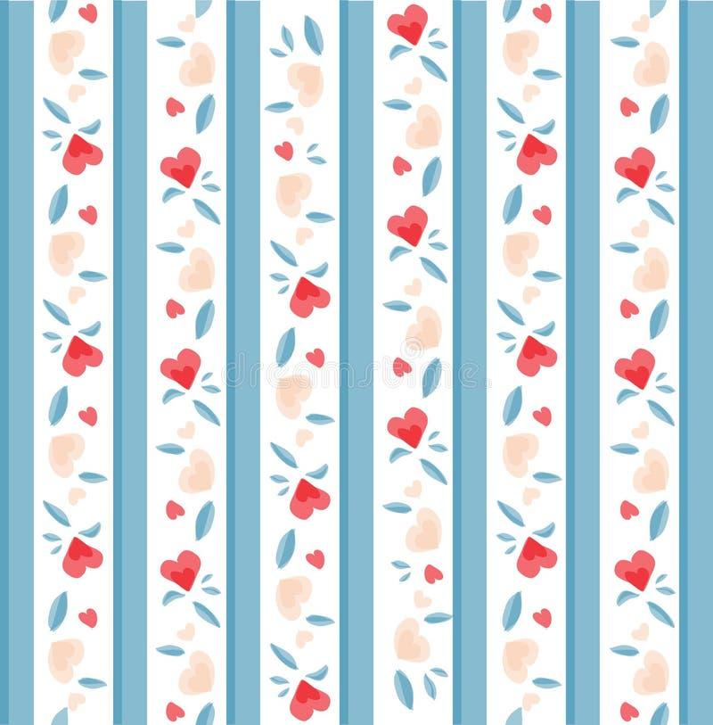 Download Teste Padrão Do Valentim Do Vintage Ilustração do Vetor - Ilustração de aniversário, forma: 29844305