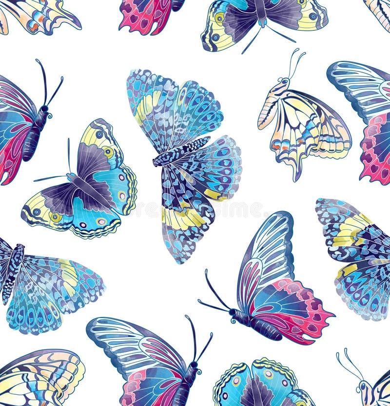 Teste padrão de borboleta ilustração royalty free
