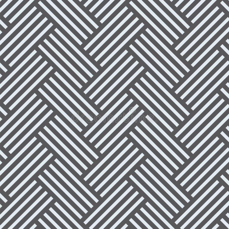 Teste padrão do vetor com entrelaçamento de linhas grossas Choque tradicional do gráfico arquitetónico ilustração royalty free