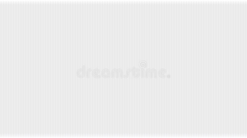 Teste padrão do vetor com linhas brancas do inclinação Fundo abstrato cinzento com textura das listras verticais ilustração stock