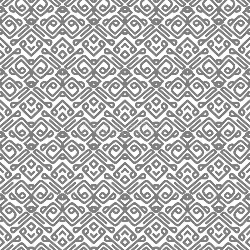 Teste padrão do vetor com linhas lisas cinzentas ilustração stock