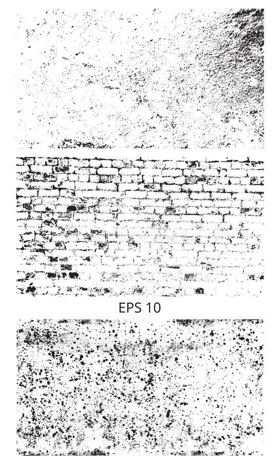 Teste padrão do vetor da textura do Grunge Vetor da textura Espane a grão da aflição da folha de prova, coloque simplesmente a il ilustração stock