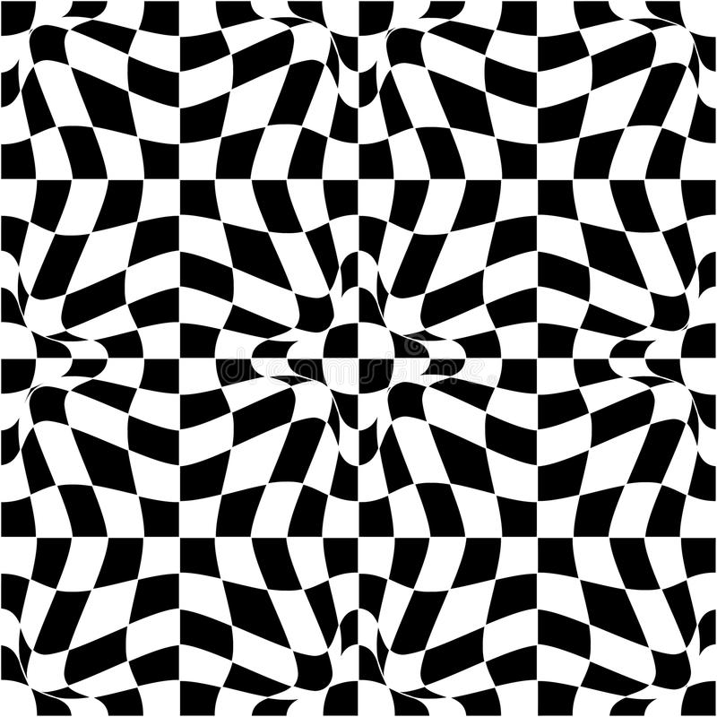 Teste padrão do vetor em preto e branco ilustração stock