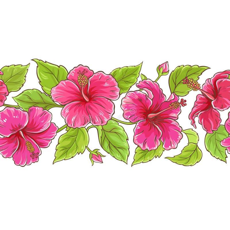 Teste padrão do vetor do hibiscus ilustração royalty free