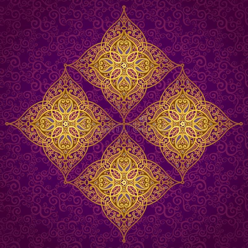 Teste padrão do vetor no estilo oriental ilustração royalty free