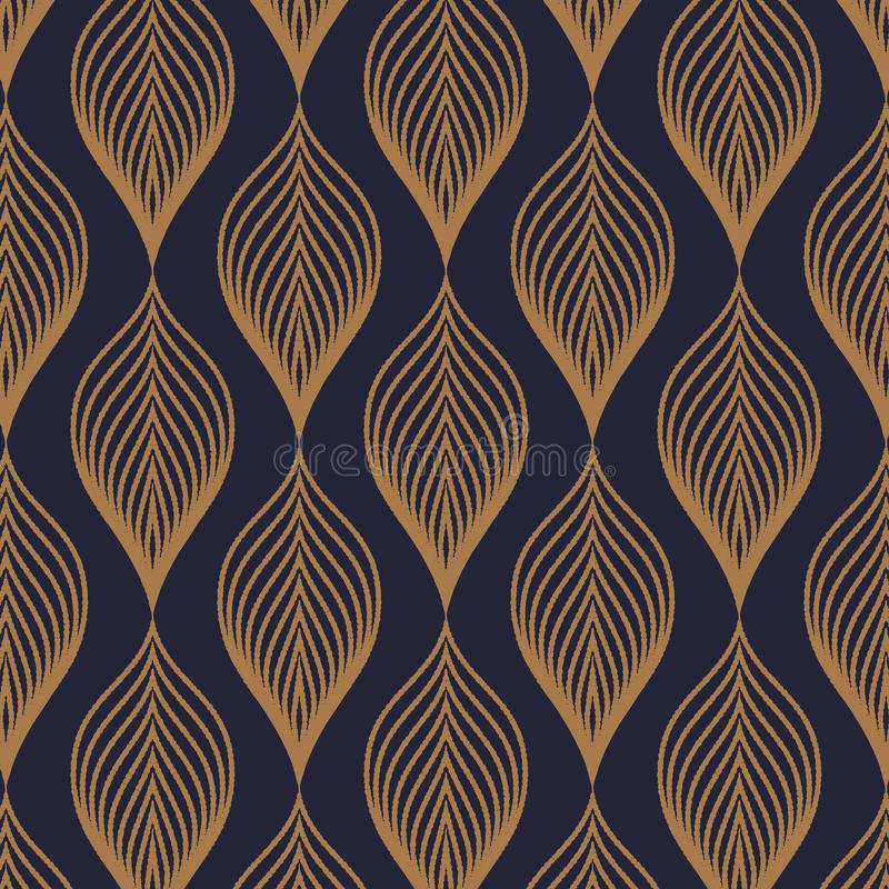 Teste padrão do vetor O fundo à moda abstrato com textura do ouro abstrato sae Festão estilizado do feriado ilustração stock