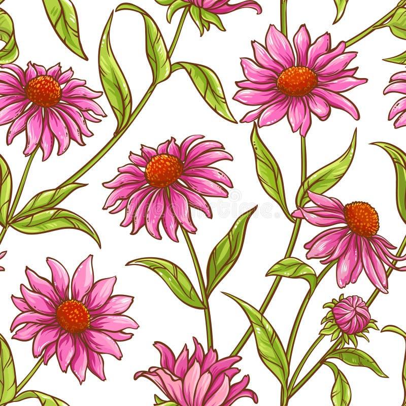 Teste padrão do vetor do purpurea de Echinace ilustração royalty free