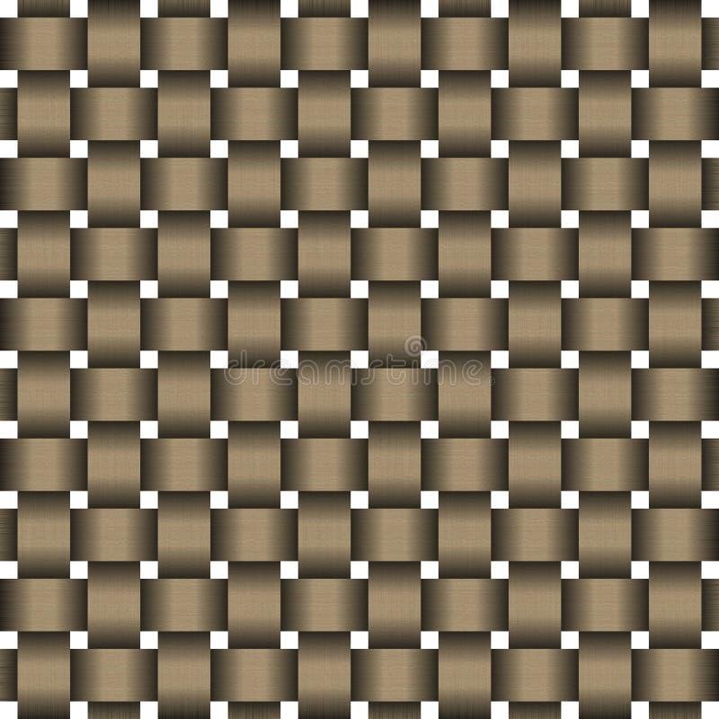 Teste padrão do weave de Wodden ilustração do vetor