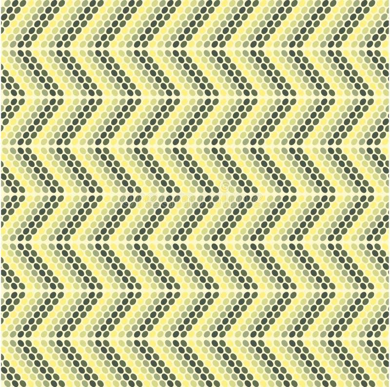 Teste padrão do ziguezague com modelos ovais ilustração stock